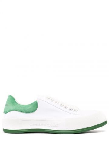 White Deck Lace-Up Plimsoll