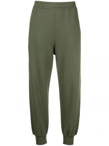 Green sports trousers