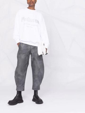 White McQueen Graffiti sweatshirt