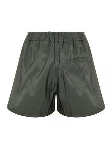 Green Polyfaille Shorts
