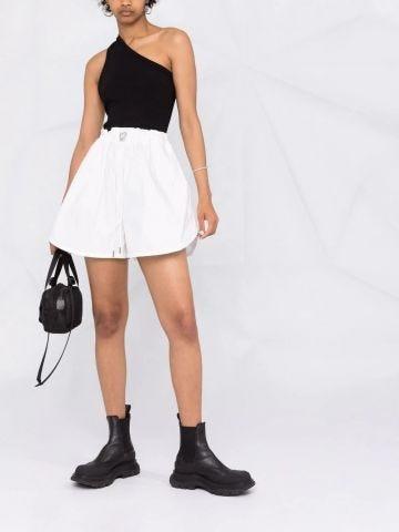White Polyfaille Shorts