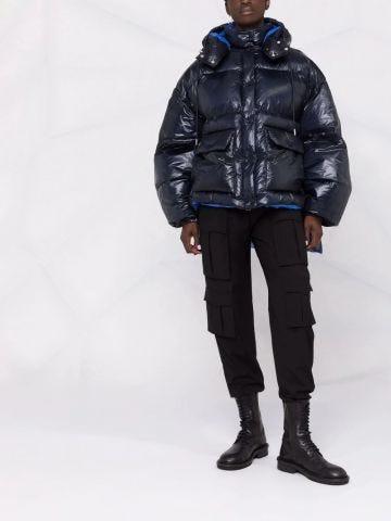 Blue padded coat