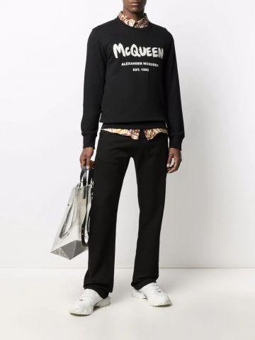 Black McQueen Graffiti sweatshirt