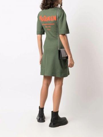 Green logo dress