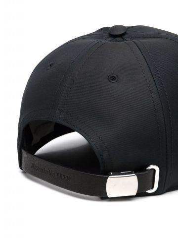 Cappello nero da baseball con stampa