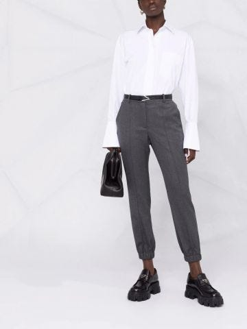 Grey slim tailored pants