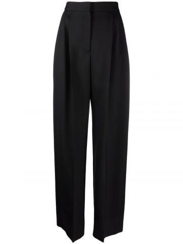 Pantaloni a Vita Alta e Gamba Ampia neri