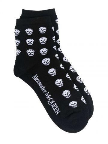 Black Skull ankle socks
