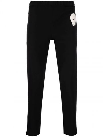 Black sports trousers with skull