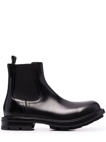 Black Watson Chelsea ankle boots