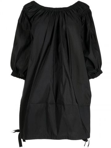 Black balloon sleeve dress