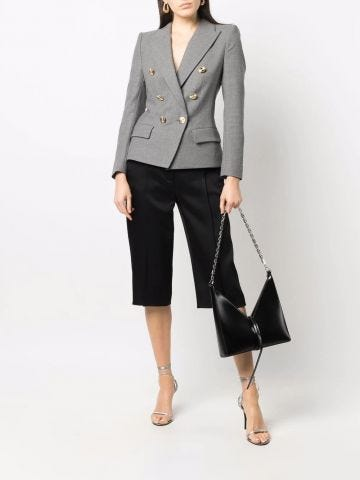 Gray double-breasted blazer