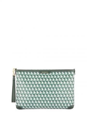 Pochette I Am a Plastic Bag verde