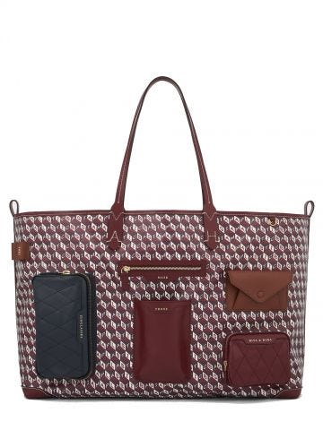 Borsa I Am a Plastic Bag Tote multi pochette XL rossa