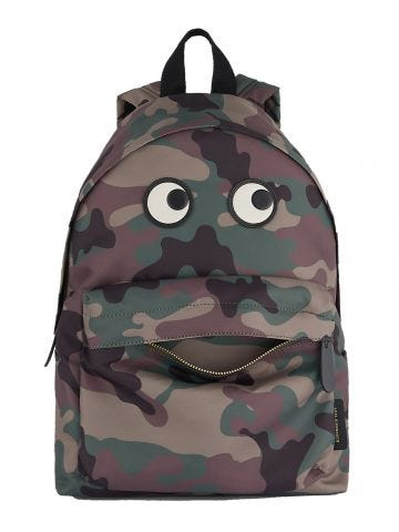 Eyes Camo Nylon backpack