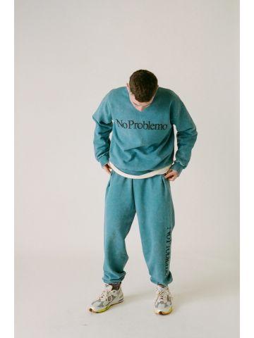 Blue crew neck sweatshirt No Problemo