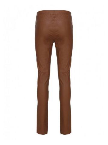 Brown leather Roche leggings