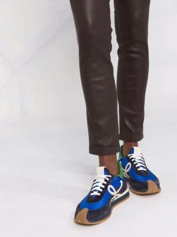 Leggings marroni in pelle