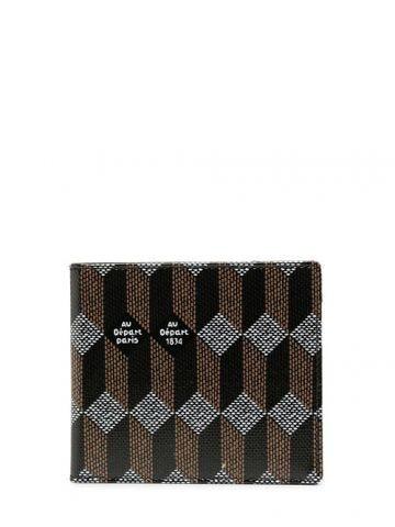 Brown bi-fold monogram wallet