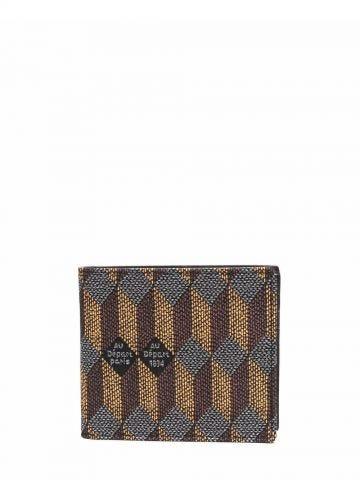 Bi-fold jacquard-effect wallet