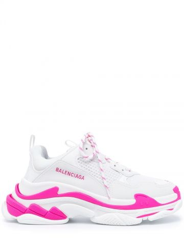 White and pink Triple S Sneakers