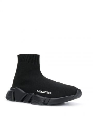 Sneakers Speed Recycled in maglia riciclata nera