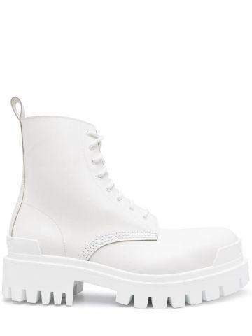 White Strike boots