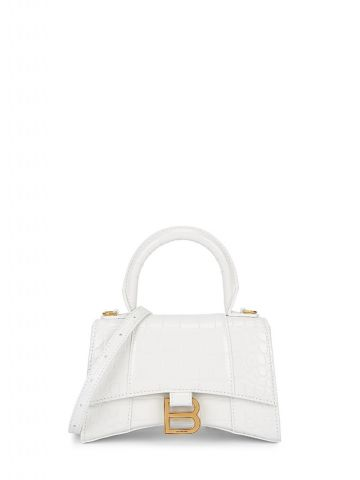Hourglass XS Top Handle Bag in white