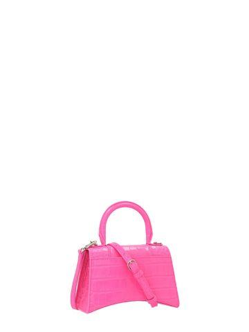 Hourglass XS Top Handle pink bag