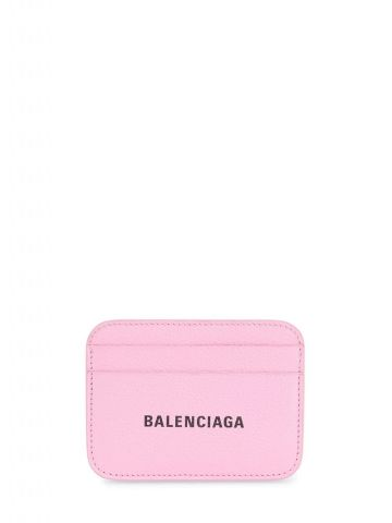 Pink card holder with logo