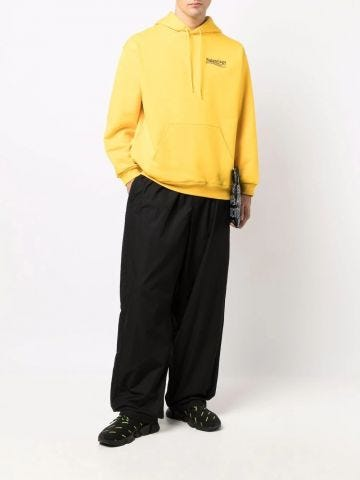 Political Campaign Medium Fit Hoodie in Yellow