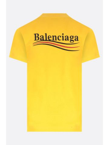 Political Campaign Small Fit T-Shirt in yellow