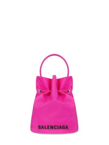 Wheel XS pink bucket bag