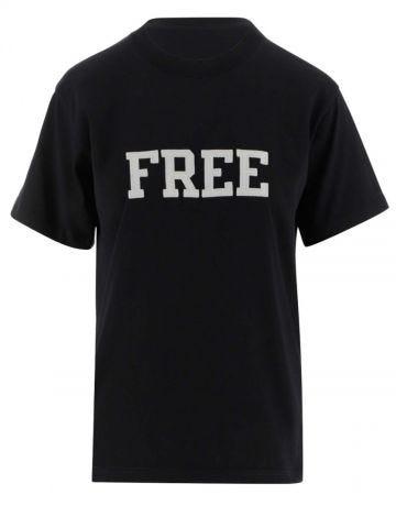 Black cotton Free T-shirt