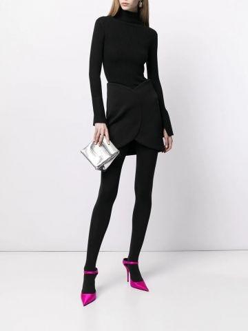 Black Circle Mini Skirt