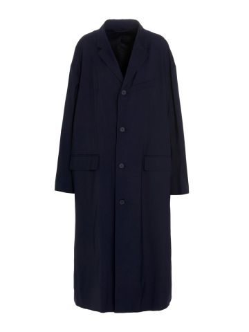 Stretch technical tailoring trench coat
