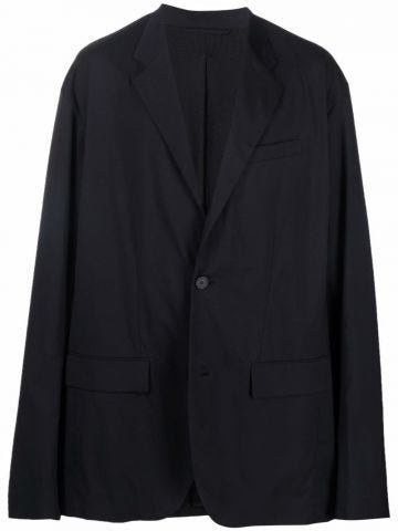 Black oversized single-breasted blazer