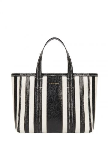 Barbes Small East-West Shopper Bag in black