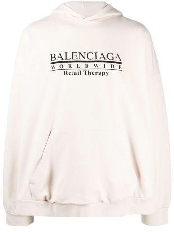 White logo sweatshirt