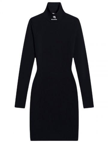 Open-Back Dress in black
