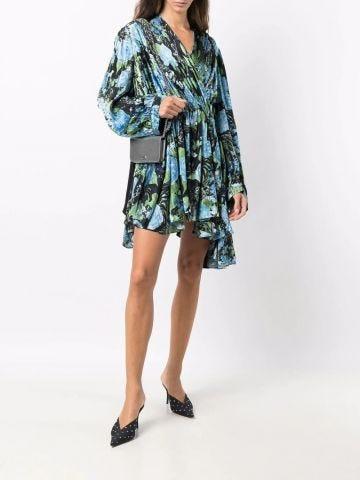 Floral-print wrap dress