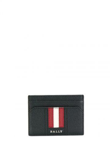 Black signature stripe cardholder