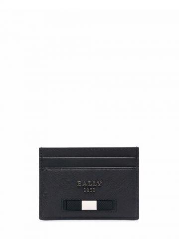 Black logo plaque card holder