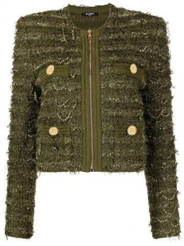 Giacca verde in tweed
