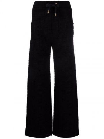 Pantaloni sportivi nero con monogramma Balmain