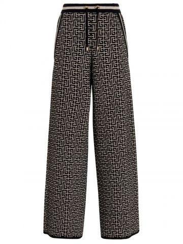 Two-tone sports trousers with Balmain monogram