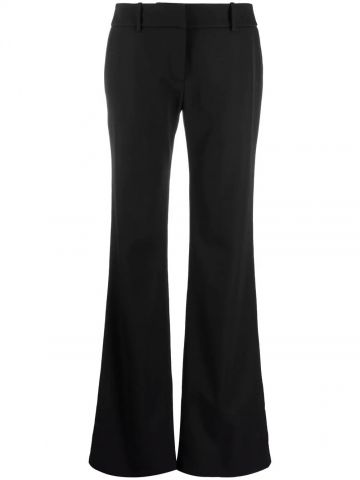 Black bootcut tailored trousers
