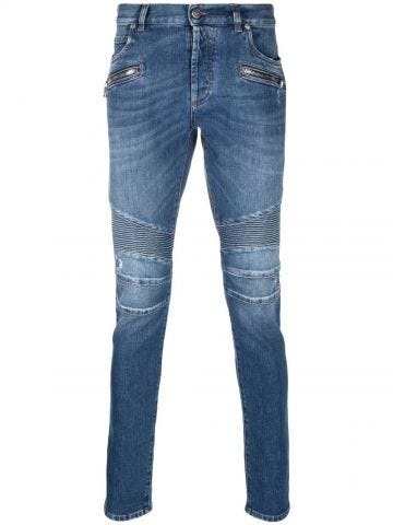 Jeans slim a coste
