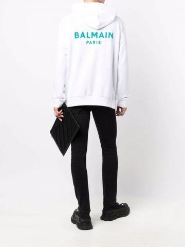 White zip-up sweatshirt