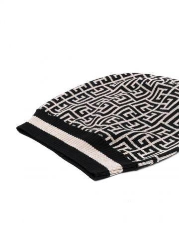 Monogram wool hat